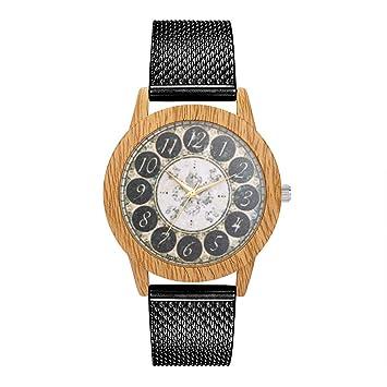 Wokee_ Women Round Fashion Silica Gel Reloj de Pulsera de ...