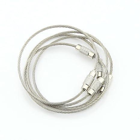 Owfeel - Candado de alambre de acero inoxidable, para ...
