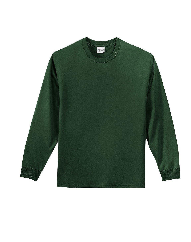 Dark Green XL Port /& Company PC61LS Long Sleeve Essential T-Shirt