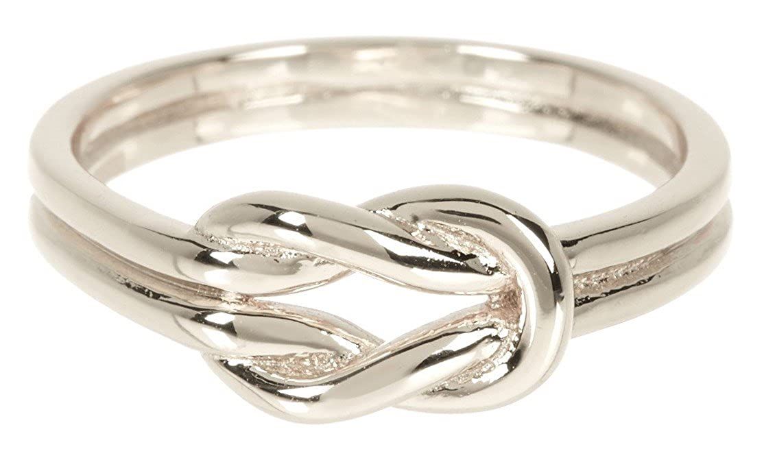 Amazon Sterling Forever Double Knot Ring Knot Ring In Sterling