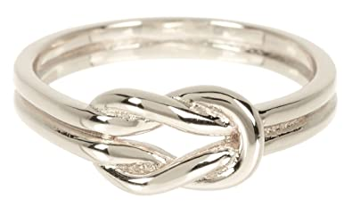 Amazon Com Sterling Forever Double Knot Ring Knot Ring In Sterling