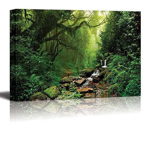 Wall26 - Canvas Prints Wall Art - Forest of Nepal | Modern Wall Decor/ Home Decoration Stretched Gallery Canvas Wrap Giclee Print. Ready to Hang - 32