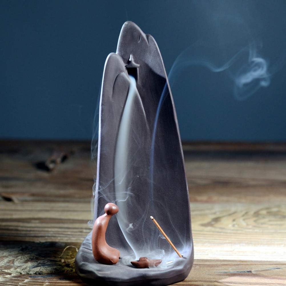 Mayco Bell - Quemador de incienso de montaña creativo, de cerámica, con conos de incienso