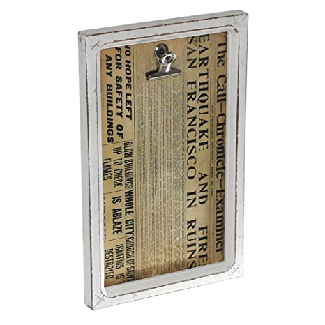 1 Bilderrahmen Shabby Chic Holz Mit Memo Halter Foto Geldschein Klemme Vintage Retro Used Look Stil Geschenk Wandtafel Rahmen Neu Old Harvest
