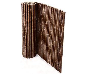 de commerce robuster bambus holz sicht schutz zaun aty nigra i hochwertiger windschutz terrasse