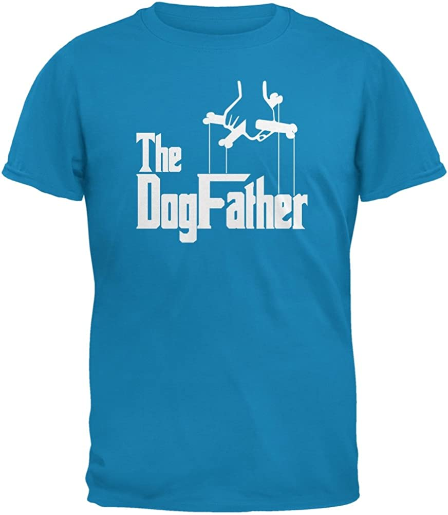 Animal World Fathers Day - The Dog Father Black Adult T-Shirt