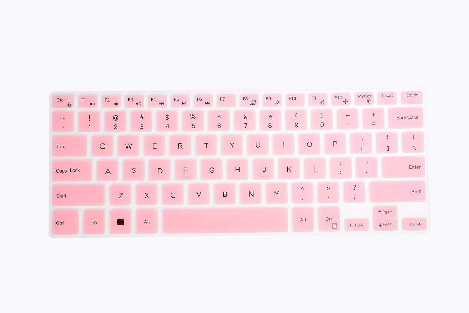 Keyboard Cover for Dell Inspiron 13 5368 5370 5378 5379 7368 7386, Inspiron 15 5568 5578 5579 5580 5585 5591 7569 7580 7586 Laptop - Pink