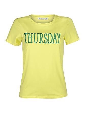 JEAN LOUIS FRANCOIS - T-Shirt - Femme - Jaune - L  Amazon.fr  Vêtements et  accessoires f300fe9f3c5