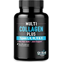 Multi Collagen Pills (Types I, II, III, V & X) - Collagen Peptides + Absorption Enhancer - Grass Fed Collagen Protein…