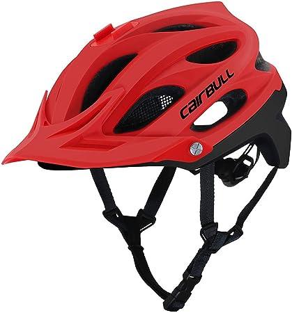 Casco Bici Mountain MTB Corsa Bicicletta Ciclismo Leggero Regolabile Rosso