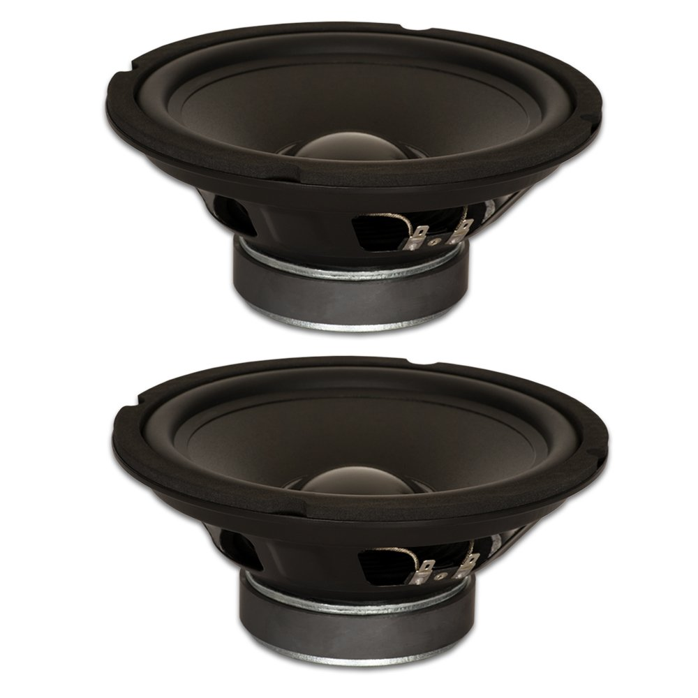 Goldwood Sound, Inc. Stage Subwoofer, Rubber Surround 8 Woofers 190 Watts Each 8ohm Replacement 2 Speaker Set (GW-8028-2)