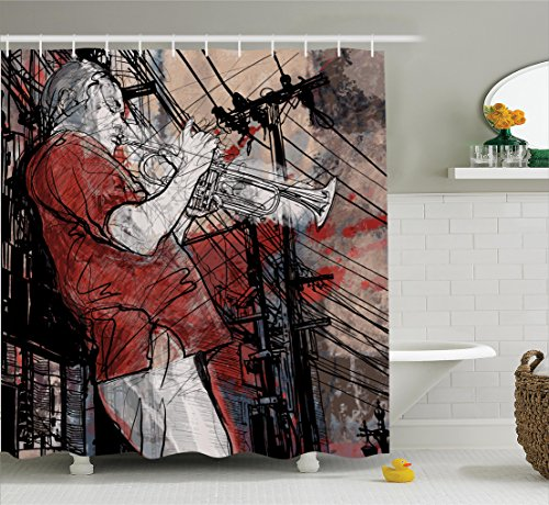 Ambesonne Musician Cityscape Background Accessories