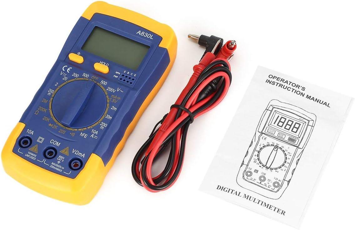 SaraHew74 A830L R/étro-/éclairage Num/érique LCD Multim/ètre Voltm/ètre Amp/èrem/ètre CA R/ésistance De Diode CC OHM Volt Testeur Test Courant Donn/ées Maintien