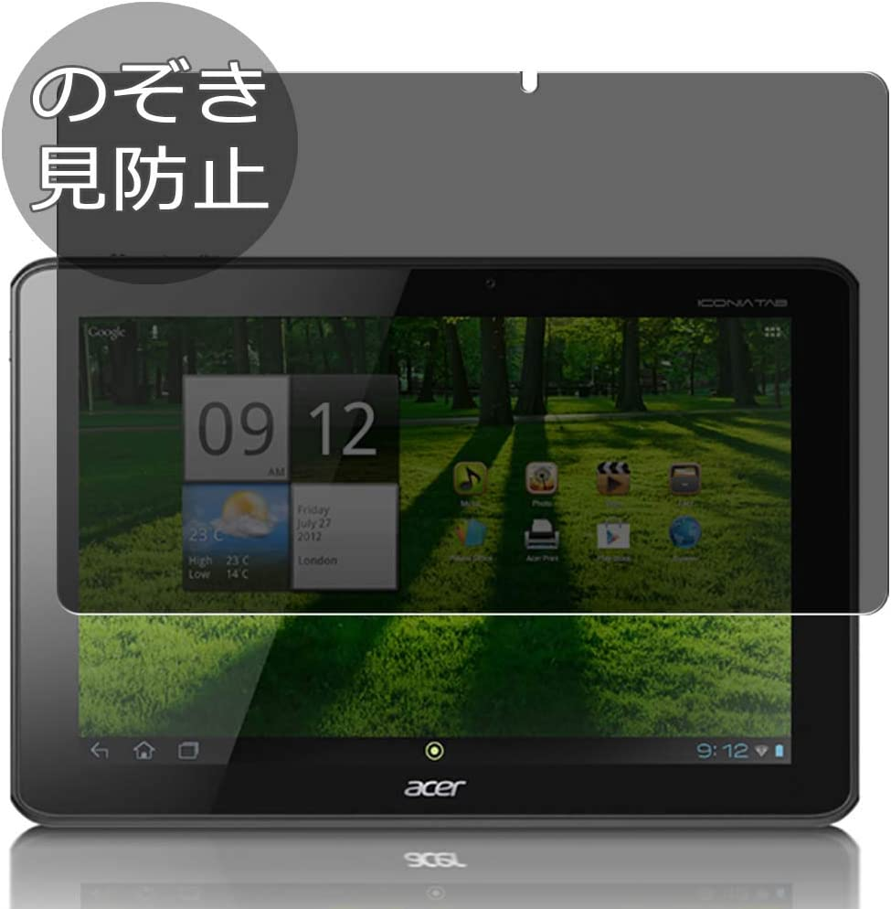 "Synvy Privacy Screen Protector Film for Acer ICONIA TAB A700 10.1"" Anti Spy Protective Protectors [Not Tempered Glass]"