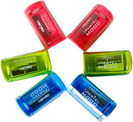 assorted colours PLASTIC PENCIL SHARPENERS PACK OF 24