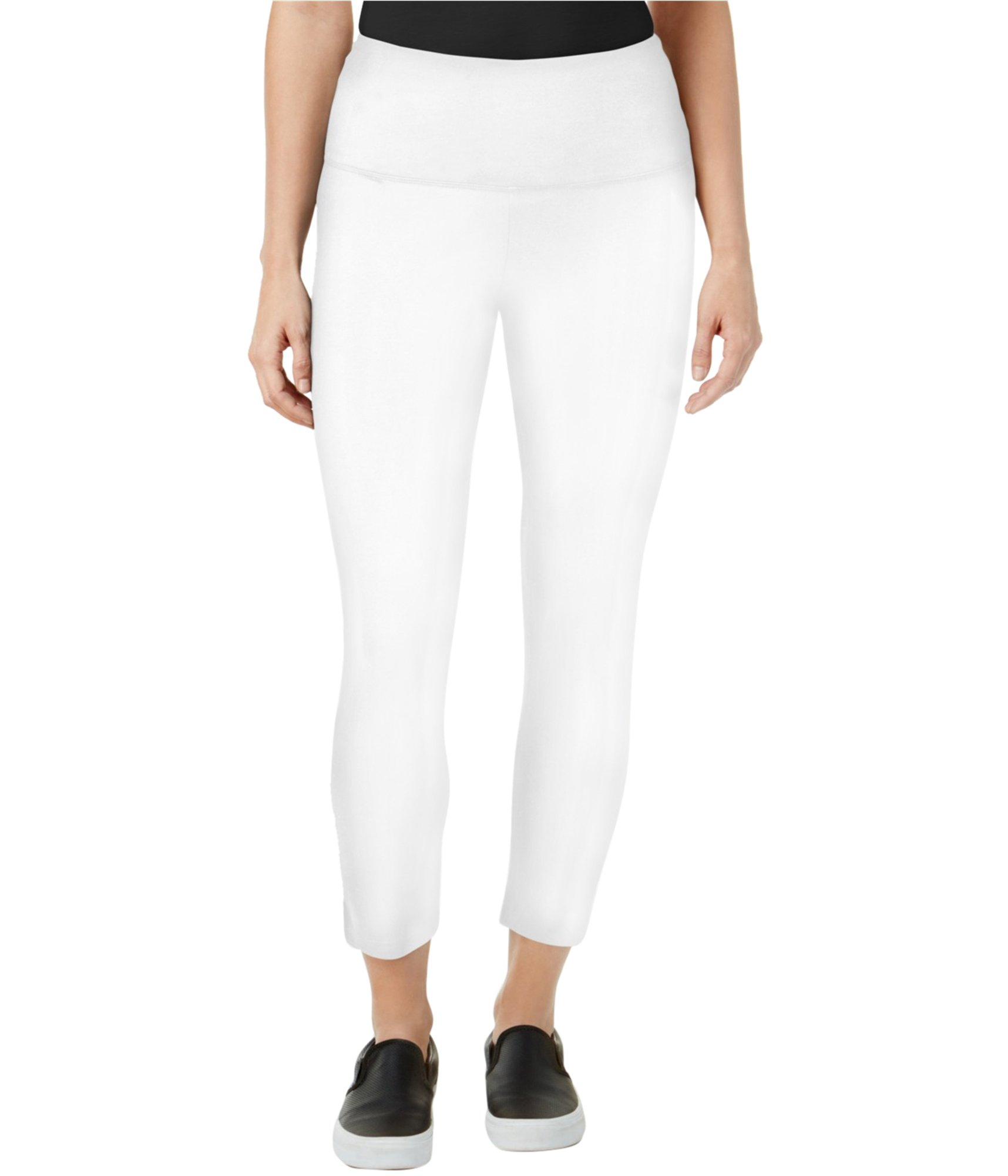 Style & Co. Womens Fitness Yoga Yoga Legging White L