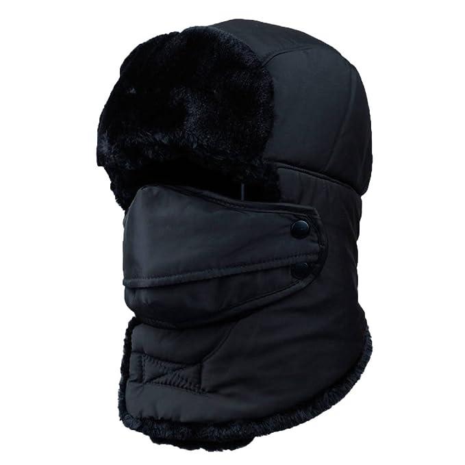 GAZHFERY Faux Fur Bomber Trapper Hat para Los Hombres De Algodón Caliente Ruso Sombrero De Caza, 1-OneSize: Amazon.es: Ropa y accesorios