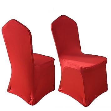 Amazon.com: TRIXES – rojo Spandex Lycra silla cubierta para ...