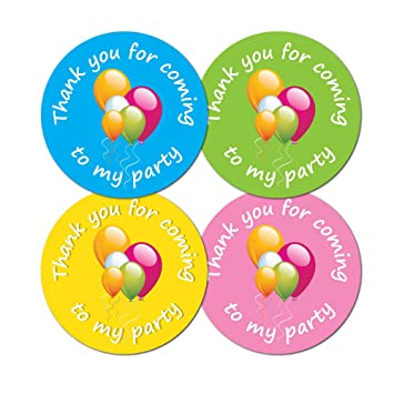 Thank you for coming to my party 30mm diameter party stickers 4