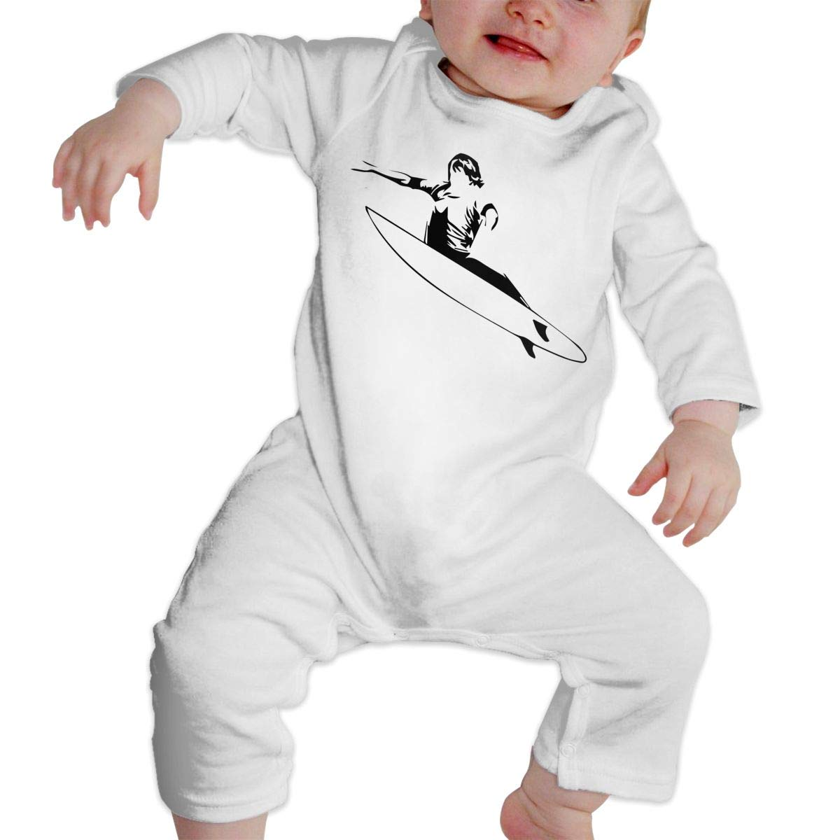 UGFGF-S3 Surf Boat Baby Boy Girl Long Sleeve Bodysuit Coverall Onsies