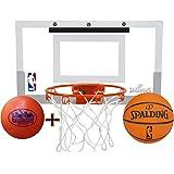 "Spalding NBA Slam Jam Mini Basketball Hoop Deluxe Set with Exclusive ""Matty's Toy Stop"" 4"" Vinyl Basketball"