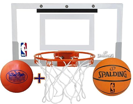Spalding - Conjunto de canasta y mini balón de baloncesto de ...