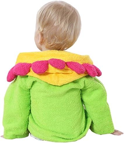 Toalla infantil con divertida capucha Mullido albornoz de microfibra Toalla beb/é con capucha de Lexikind Poncho-toalla con capucha