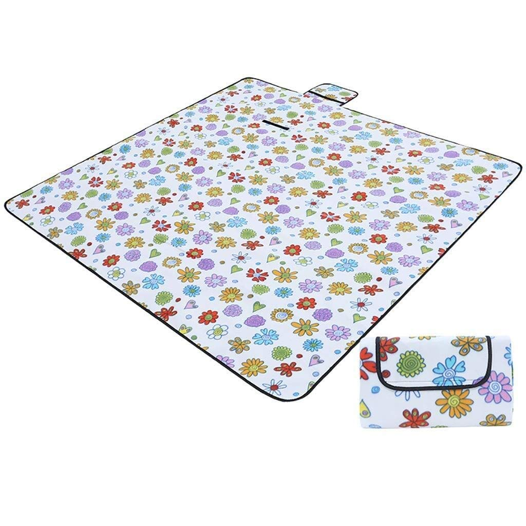 ZKKWLL Picnic Blanket Picnic Blanket Fleece Camping Beach Blanket, Waterproof and Sandproof Aluminum Backing 200 200 cm Beach mat (Color : A) by ZKKWLL