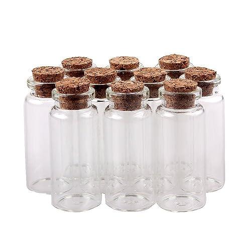 TININNA 10 pcs pequeño Mini tarros de Cristal Botellas frascos con Tapones de Corcho/Mensaje