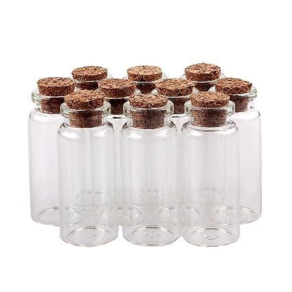 Mini Glass Jar Bottle Cork Top Craft DIY Wedding Favour Gift Jewellery Charms UK