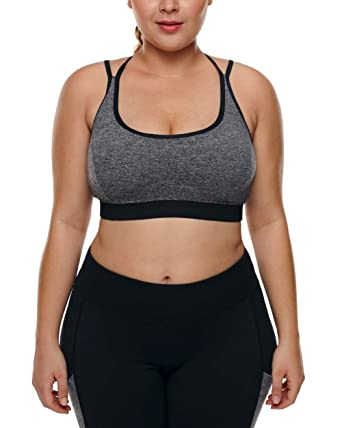 afbab999bce39 Just For Plus Women s Fashion Plus Size Racerback Gym Workout Sports ...