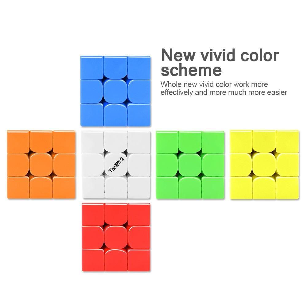 D-FantiX QiYi Valk 3 3x3 Speed Cube Stickerless Valk3 3by 3 Speed Cube Puzzles