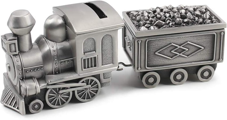 Amor Vintage Metal Train Coin Bank Creative Train Shaped Money Saving Bank Piggy Bank Jewelry Box for Baby Boy