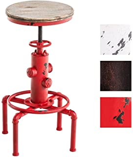 topower vintage antique industrial solid wood fire hydrant design cafe industrial bar stool height adjustable