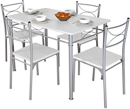 cuisine blanche 4 chaises tuti