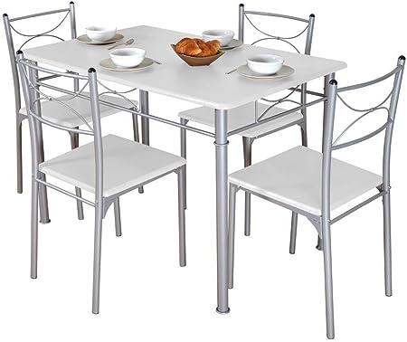 Table De Cuisine Blanche 4 Chaises Tuti Amazon Fr Cuisine Maison
