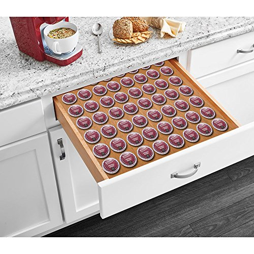 Storage for K-Cup Pods, Coffee Pod Storage Organizer Insert for Drawer 12 x 17 - Choose Your Size -