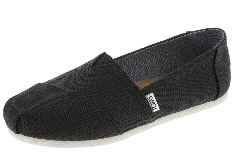 Toms Tom - Women Slip-On Shoes, Size: 6 B(M) US, Color Black Polycanvas