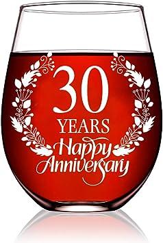 Anniversary Wine Glass