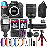 Holiday Saving Bundle for D7100 DSLR Camera + AF-P 18-55mm + Battery Grip + 64GB Class 10 Memory Card + 6PC Graduated Color Filter Set + 2yr Extended Warranty + 32GB Class 10 - International Version