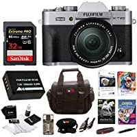 Fujifilm X-T20 Mirrorless Camera Body 32GB Body Bundle (Silver)