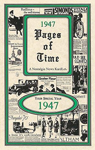 Seek Publishing 1947 Pages of Time Kardlet (PT1947)