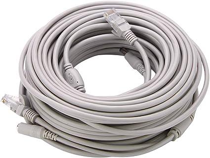 A 20 Meter f/ür IP Kameras NVR System 10Mbps 100Mbps 15M 10M DC Ethernet CCTV Kabel 5M KIMISS RJ45 Cat 5 Netzwerk Ethernet Patchkabel