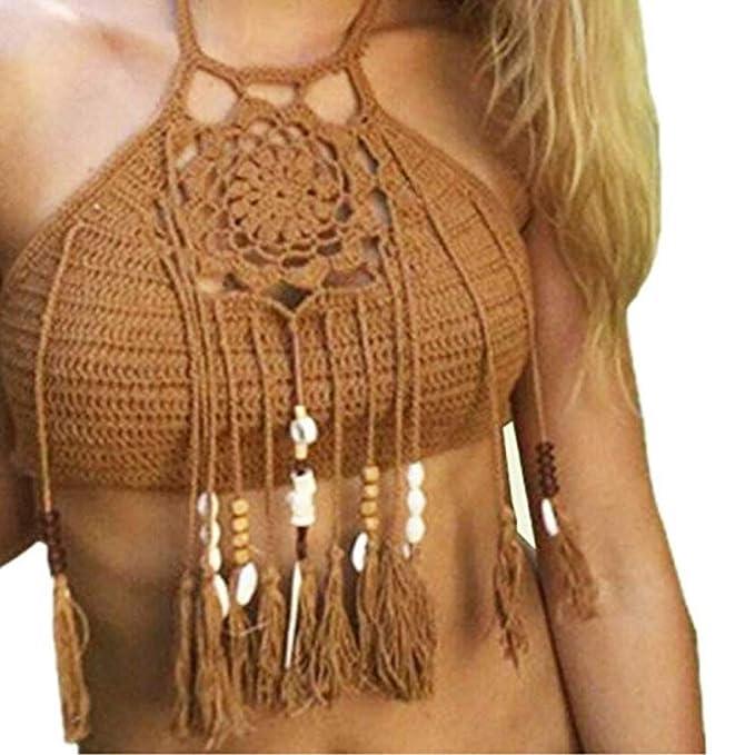 Las Mujeres Florales Bordados de Encaje de Ganchillo Cubrir la Parte  Superior del Chaleco Bralet , 4de2df22960c