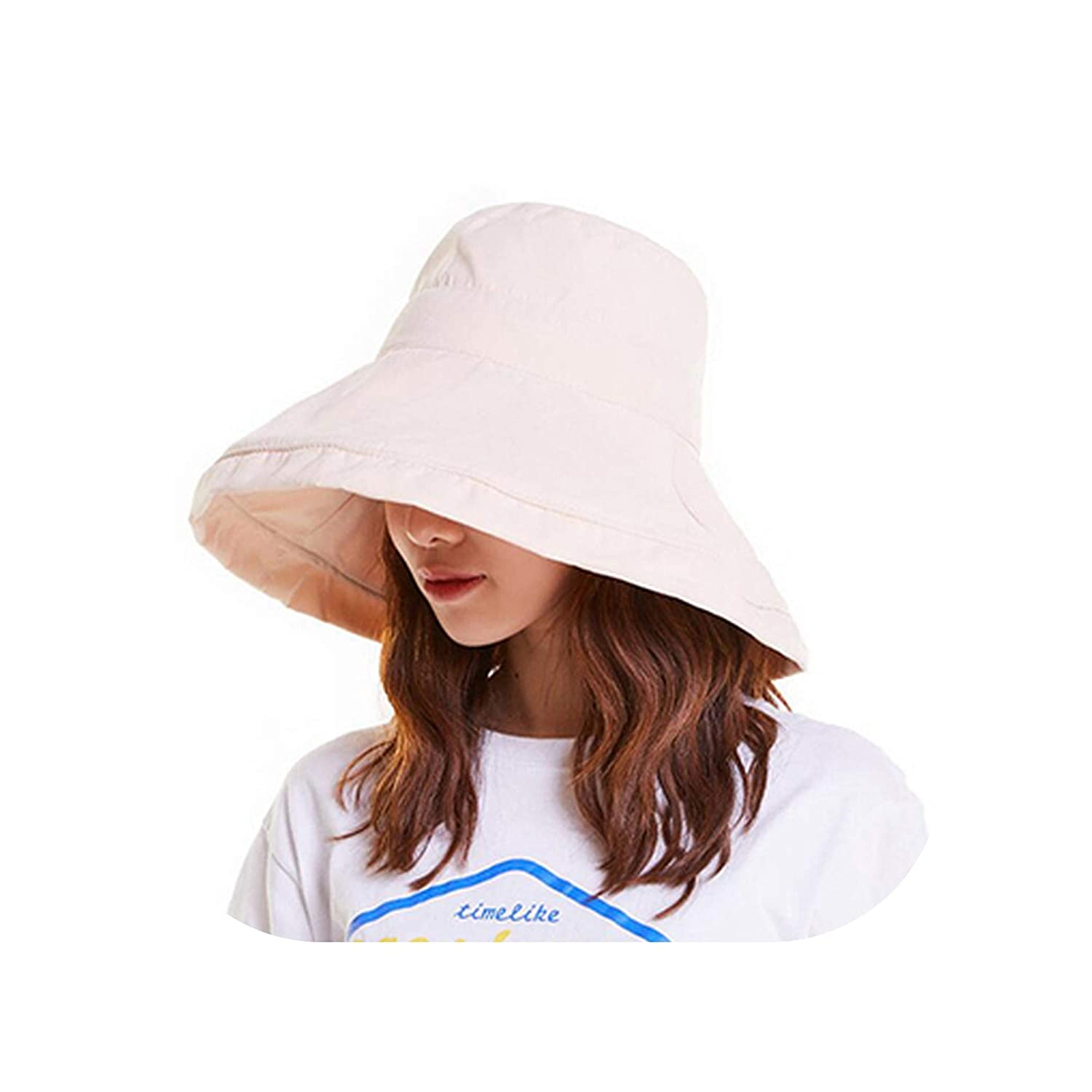 Spring Summer hat Woman hat for Women Sun Hat Folding Japanese Solid Color Simple Woman Fisherman Hat