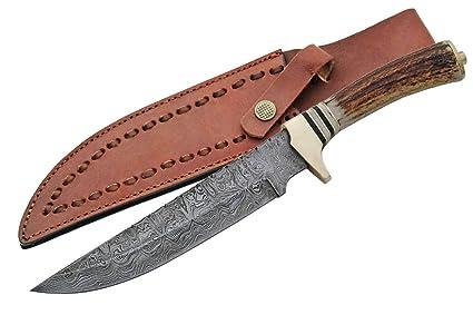 Amazon.com: szco Suministros Filework Bowie cuchillo de caza ...