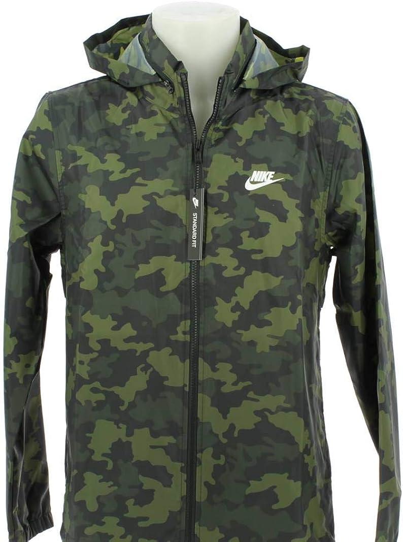 CAMO Hooded Windbreaker Jacket