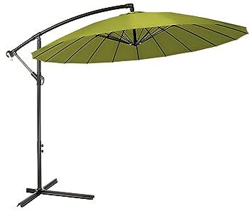 9 Offset Patio paraguas con varillas de 18 – por marca innovaciones, verde claro