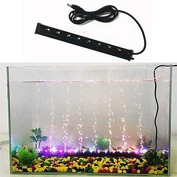 LHY LIGHT Bubble Fish Tank Luz LED Colorida Acuario Iluminación ...