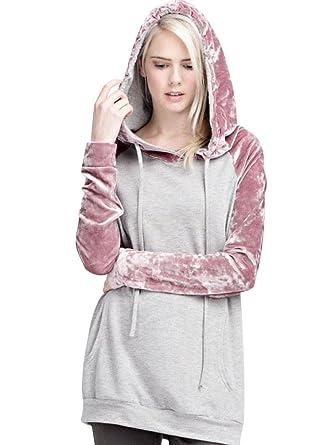 Sudaderas Largas Con Capucha Mujer Sudadera Larga Chica Hoodies Oversize Pullover Juveniles Camisas Camisetas Terciopelo Manga Larga Anchas Grandes Invierno ...